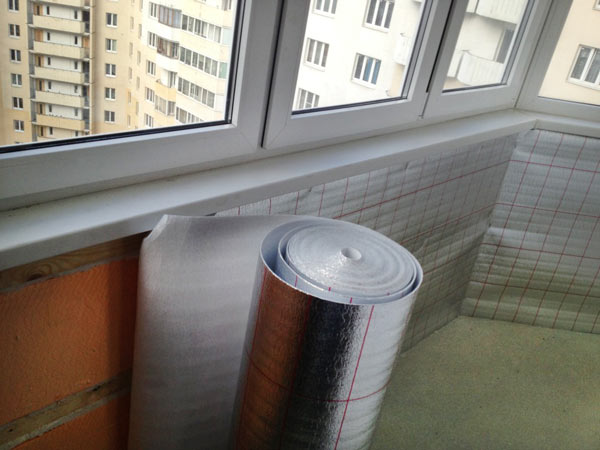 Утепление балкона пенофолом