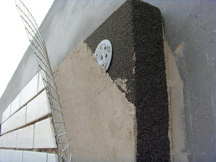 Пеностекло на фасаде